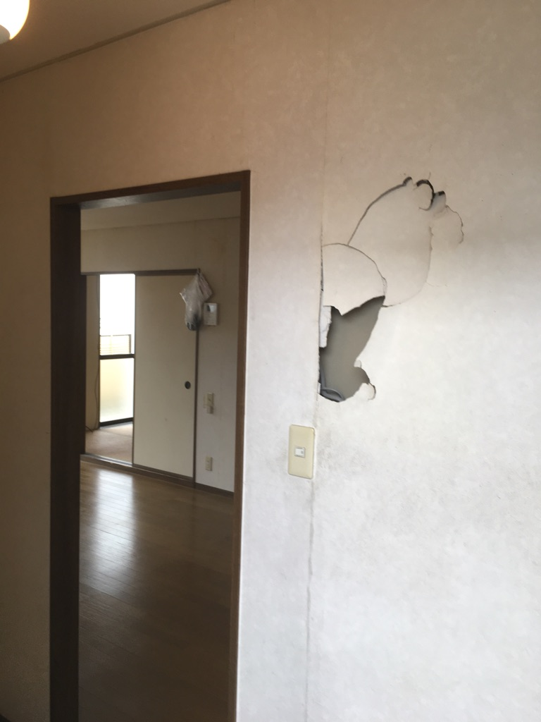 壁補修 施工前