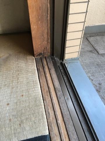 白木枠研磨・塗装 施工前