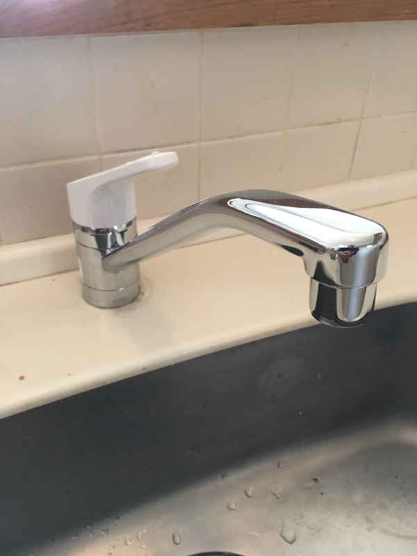 流し台水栓取替 施工後